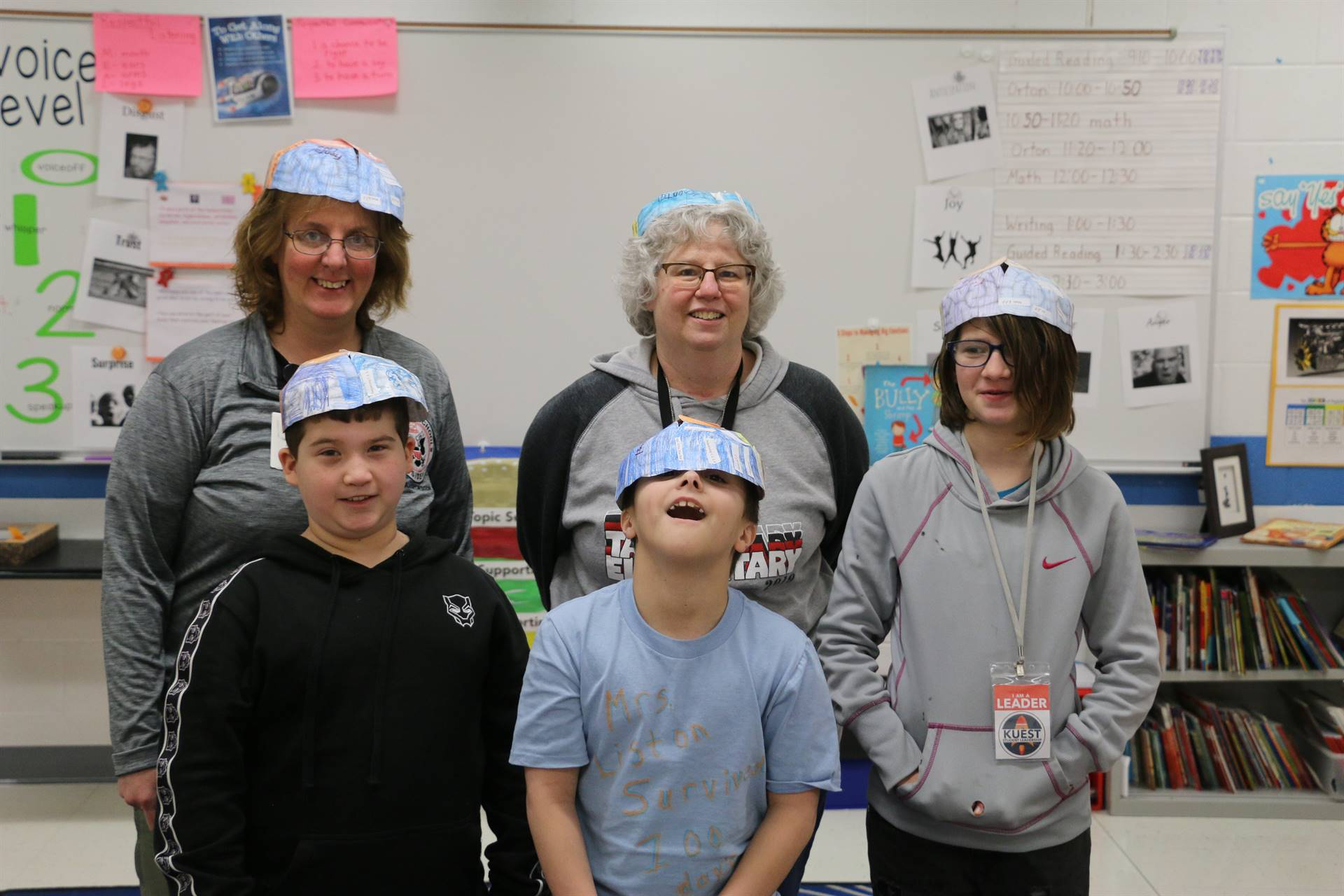 Mrs. Rinehart with Taft Students