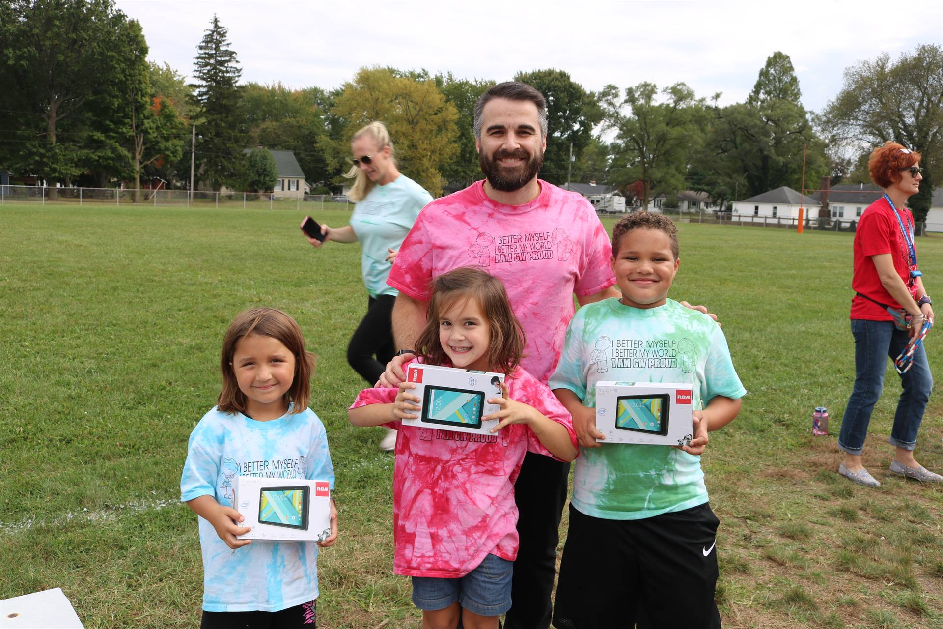 Prize Winners at GW's Race for Education Day