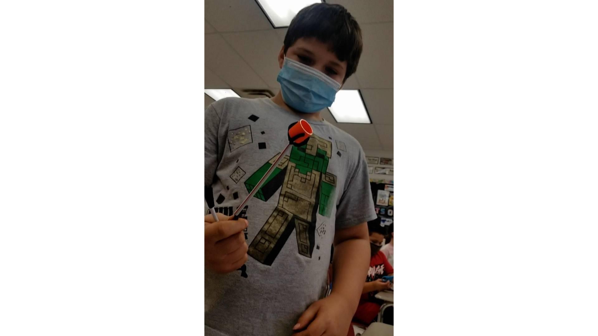 Malik Wills - 4th Grade - Garfield - Doctor Octopus Working Arm - 9/13/21