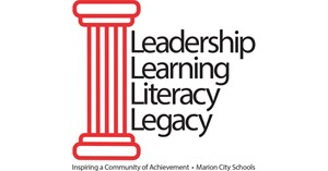 4 Pillars logo - Leadership, Learning, Literacy, Legacy - Inspiring a Community of Achievement - Marion City Schools
